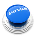 Service push button concept d illustration of isolated on white backgroud Royalty Free Stock Images