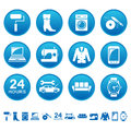 Service and repair icons set of Stock Photography