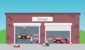 Service shop garage