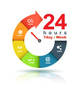Service and support around the clock Royalty Free Stock Photo