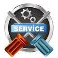 Service symbol tool