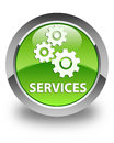 Services (gears icon) glossy green round button