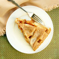 Serving of Apple Pie with Lattice Top Royalty Free Stock Image