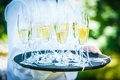 Serving Champagne Royalty Free Stock Photo