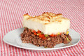 Serving of shepards pie Stock Photos