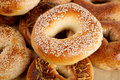 Sesame bagel close up on bagels Stock Photos