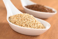 Sesame and Brown Flax Seeds Royalty Free Stock Image