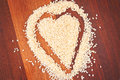 Sesame heart Stock Photos