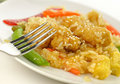 Sesame orange chicken Stock Image