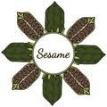 Sesame, Round frame in color 4