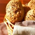 Sesame seed buns Stock Photo