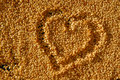 Sesame seeds heart Stock Images