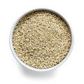 Sesame Seeds in White Bowl Royalty Free Stock Photography