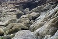 Sessilia full frame detail of a coastal rock formation in brittany france Stock Photo