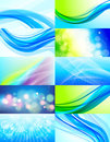 Set of 10 abstract  backgrounds Stock Photography