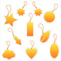 Set of 10 tags Stock Photo