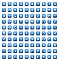Set of 100 icons for web and interface Stock Photography