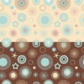 Set of 2 seamless abstract floral patterns Royalty Free Stock Image