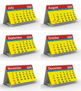 Set 2009 year calendar Royalty Free Stock Photo