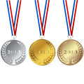 Set of 2013 medals Stock Photography