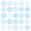 Set of 25 snowflakes Royalty Free Stock Photo