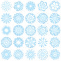 Set of 25 snowflakes Stock Images