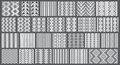 Set of 26 monochrome elegant seamless patterns Royalty Free Stock Image