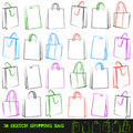 Set of 30 shopping bags. Stock Photos