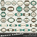 Set of 30 vintage premium and high quality labels Royalty Free Stock Photo