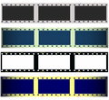 Set 35 mm film strip isolated on white Stock Images