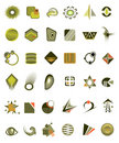Set of 36 icons  Royalty Free Stock Photography
