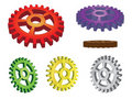 Set of 3d gears Stock Images