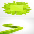 Set 3D Green layout design Royalty Free Stock Images