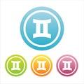 Set of 4 gemini signs Royalty Free Stock Image