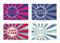 Set of 4 gift cards. Royalty Free Stock Photo