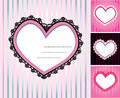 Set of 4 hearts Royalty Free Stock Photos