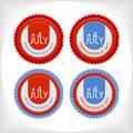 Set 4 july  badge Royalty Free Stock Photography