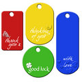 Set of 4 message tags Stock Images