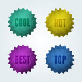 Set of 4 quality vector labels. Royalty Free Stock Photo
