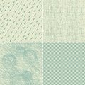 Set of 4 seamless doodle backgrounds Royalty Free Stock Photography