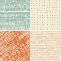 Set of 4 seamless doodle patterns Royalty Free Stock Photo
