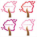 Set of 4 st. valentine's day  frames Stock Photo
