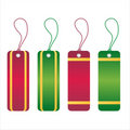 Set of 4 tags Stock Photos