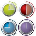 Set of 4 timers Stock Image