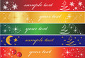 Set of 5 holiday banners Royalty Free Stock Photography