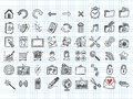 Set of 54 doodle icons Stock Photo