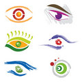 Set Of 6 Eye Icons