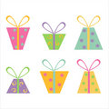 Set of 6 gifts icons Stock Images