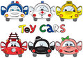 A set of 6 toy cars Stock Photography