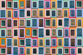 Set of 78 old color windows Royalty Free Stock Images